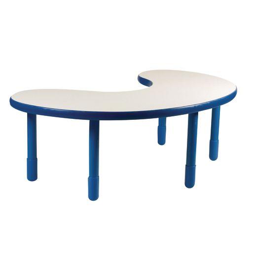"38"" x 65"" Kidney BaseLine® Table, 22""H - Blue"