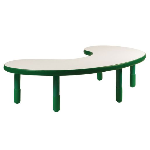 "38"" x 65"" Kidney BaseLine® Table, 18""H - Green"