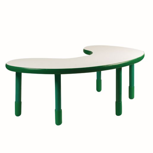 "38"" x 65"" Kidney BaseLine® Table, 22""H - Green"
