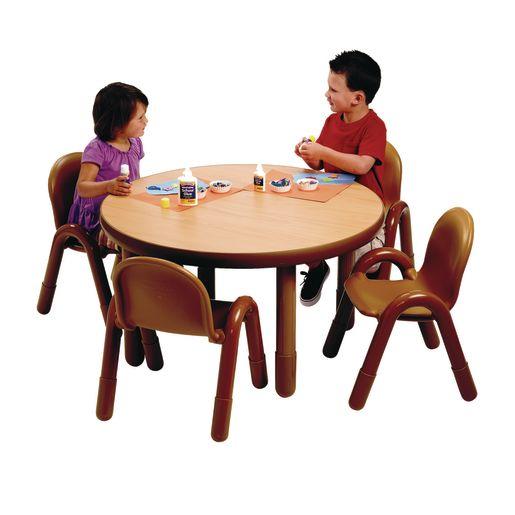 "36"" Round BaseLine® Table, 20"" Leg - Natural Cocoa"