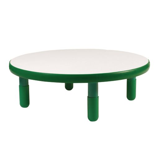 "36"" Round BaseLine® Table, 12"" Leg - Green"