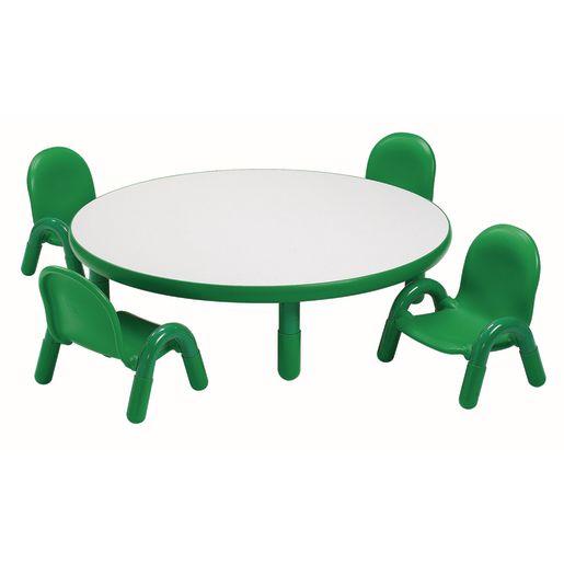 "36"" Round BaseLine® Table, 14"" Leg - Green"