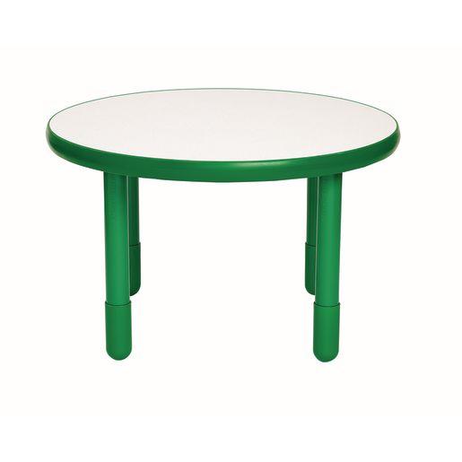 "36"" Round BaseLine® Table, 20"" Leg - Green"
