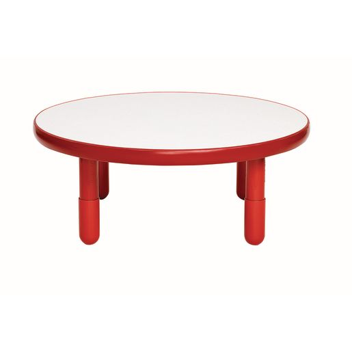 """36"""" Round BaseLine® Table, 12"""" Leg - Red"""
