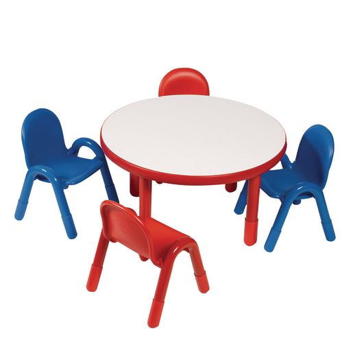 """36"""" Round BaseLine® Table, 18"""" Leg - Red"""