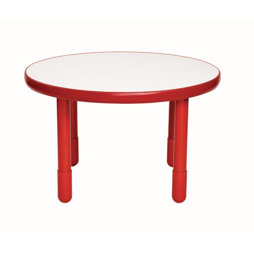 """36"""" Round BaseLine® Table, 20"""" Leg - Red"""