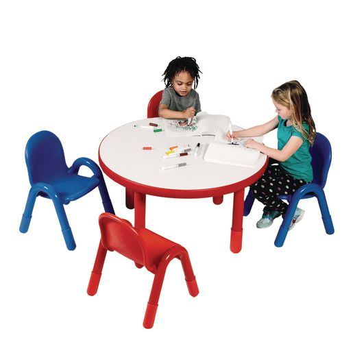 "36"" Round BaseLine® Table, 20"" Leg - Red"