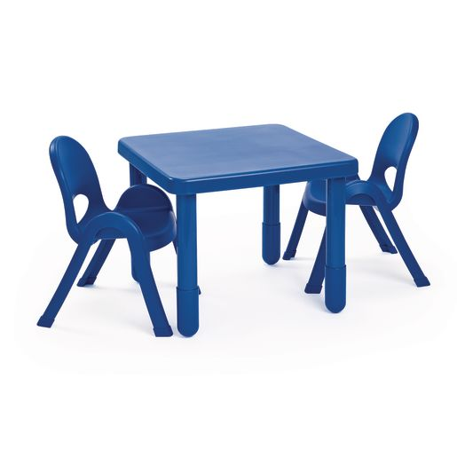 "Angeles® MyValue™ 24"" Square Table, 20""H - Blue"