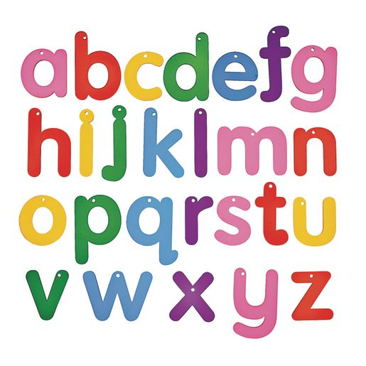 Image of Translucent Rainbow Alphabet Letters 26 Pieces