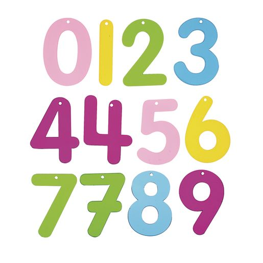 Image of Translucent Rainbow Numbers 0-10, 14 Pieces