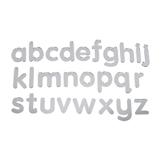 Image of Mirrored Alphabet Letters- Lowercase, 26 Pieces