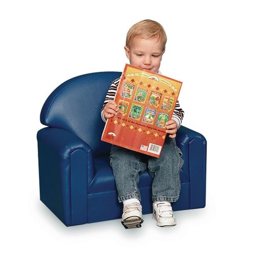 "Toddler Vinyl Chair 8""H Seat Height - Blue"