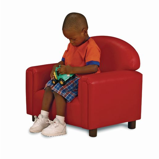 "Toddler Vinyl Chair 8""H Seat Height- Red"