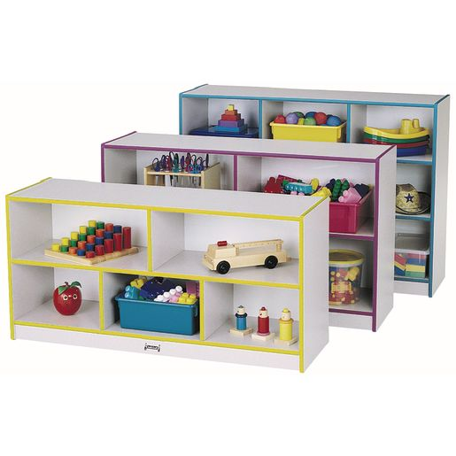 Rainbow Accents® Mobile Shelving, Preschool - Navy