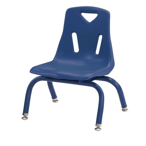 """Berries® Single 8"""" Stacking Chair with Matching Legs - Blue"""