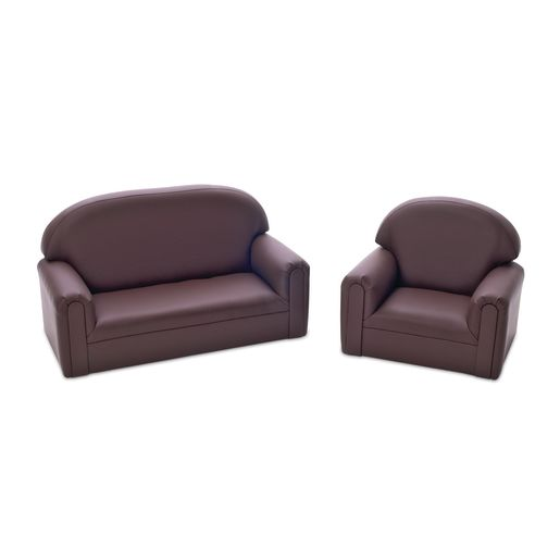 "Enviro-Child Toddler Sofa 8""H Seat Height - Chocolate"