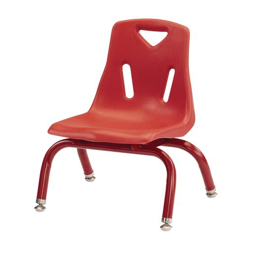 "Berries® Single 8"" Stacking Chair with Matching Legs - Red"