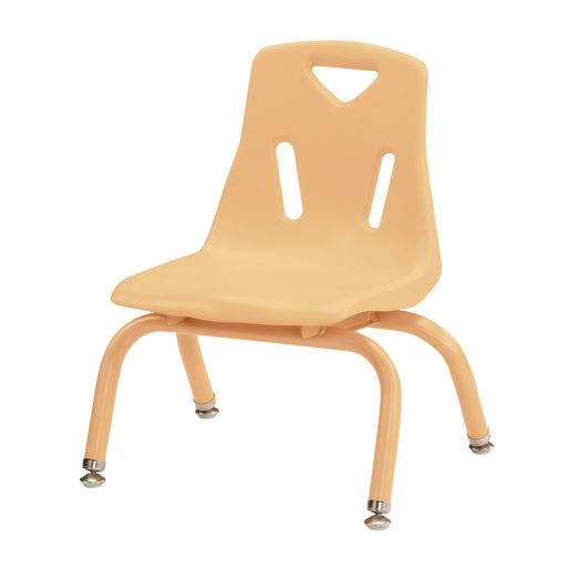 "Berries® Single 8"" Stacking Chair with Matching Legs - Camel"