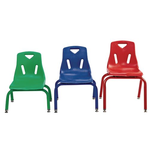 "8"" Berries® Stacking Chairs w/ Matching Legs, Set of 6 - Red"
