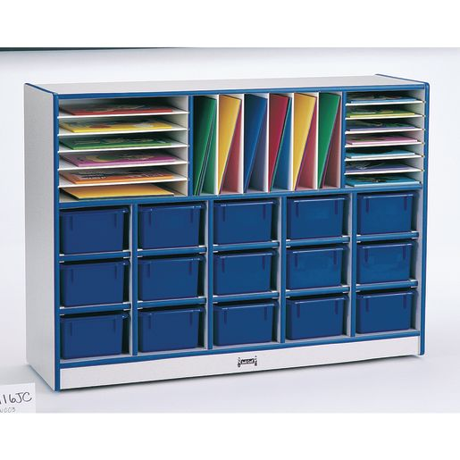 Rainbow Accents® Sectional Mobile Cubbie Without Trays - Green