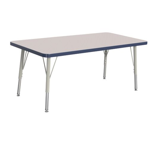 "24"" x 48"" Berries® Rectangle Activity Table, 15"" - 24"" Leg - Navy"