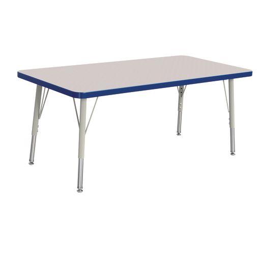 "24"" x 48"" Berries® Rectangle Activity Table, 15"" - 24"" Leg - Blue"