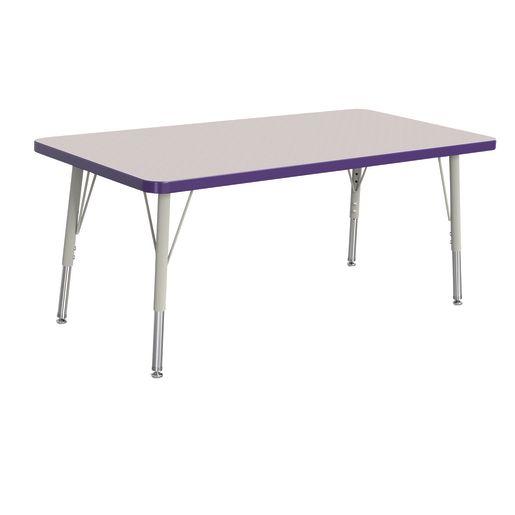 "24"" x 48"" Berries® Rectangle Activity Table, 15"" - 24"" Leg - Purple"