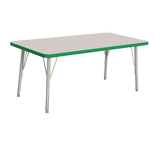 "24"" x 48"" Berries® Rectangle Activity Table, 15"" - 24"" Leg - Green"
