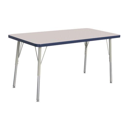 "Berries® 24"" x 48"" Rectangle Activity Table, 24"" - 31"" Leg - Navy"