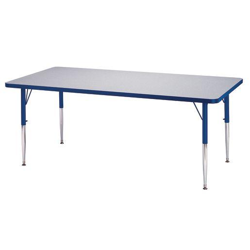 "Berries® 24"" x 48"" Rectangle Activity Table, 24"" - 31"" Leg - Blue"