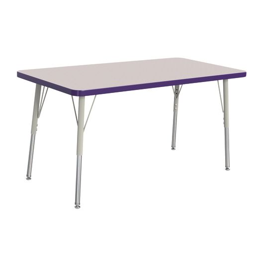 "Berries® 24"" x 48"" Rectangle Activity Table, 24"" - 31"" Leg - Purple"
