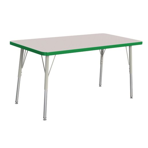 "Berries® 24"" x 48"" Rectangle Activity Table, 24"" - 31"" Leg - Green"