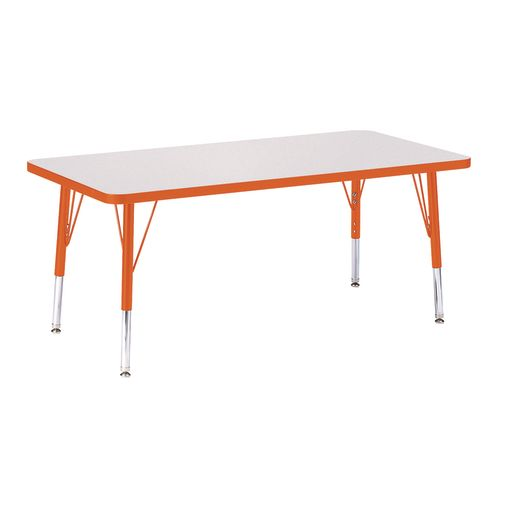 "Berries® 24"" x 48"" Rectangle Activity Table, 24"" - 31"" Leg - Orange"