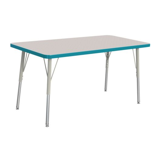 "Berries® 24"" x 48"" Rectangle Activity Table, 24"" - 31"" Leg - Teal"