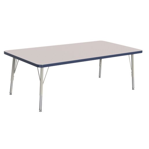 "Berries® 30"" x 60"" Rectangle Activity Table,  15"" - 24"" Leg Height - Navy"