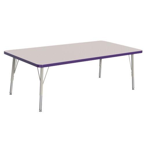 "Berries® 30"" x 60"" Rectangle Activity Table,  15"" - 24"" Leg Height - Purple"