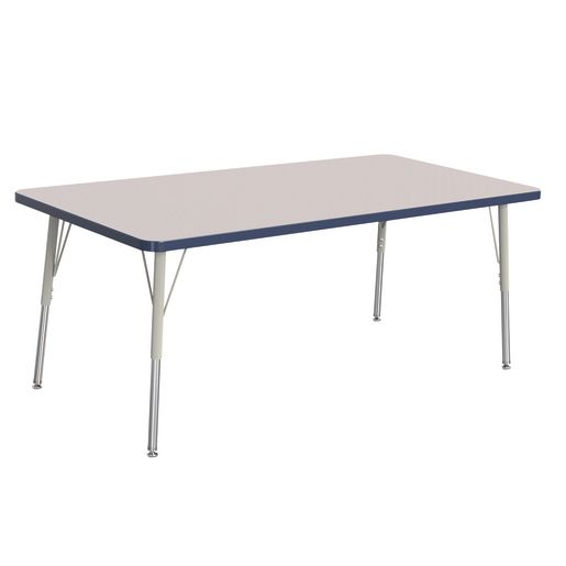 "Berries® 30"" x 60"" Rectangle Activity Table,  24"" - 31"" Leg Height - Navy"