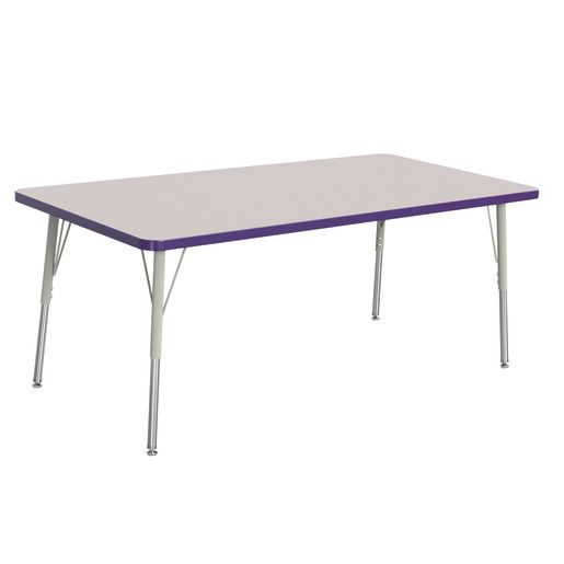 "Berries® 30"" x 60"" Rectangle Activity Table,  24"" - 31"" Leg Height - Purple"