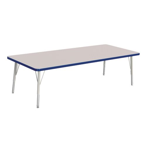 "Berries® 30"" x 72"" Rectangle Activity Table, 15"" - 24"" Leg Height - Blue"
