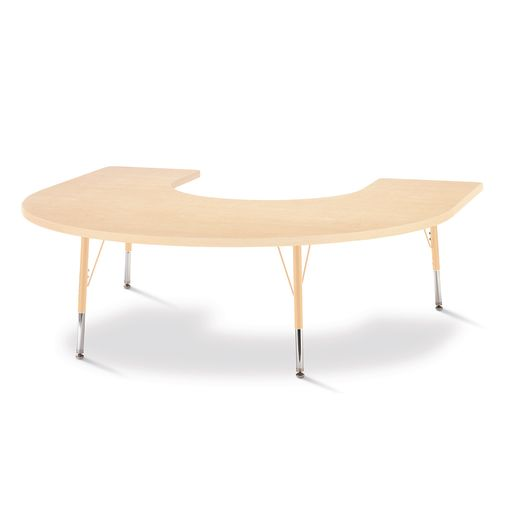 "66"" x 60"" Berries® Maple Prism Activity Table - Horseshoe, 15"" - 24"" Leg Height"