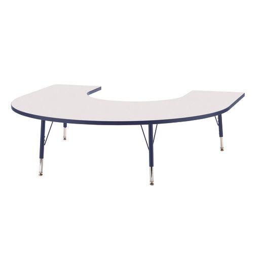 "Berries® 60"" x 66"" Horseshoe Activity Table, 11"" - 15"" - Navy"