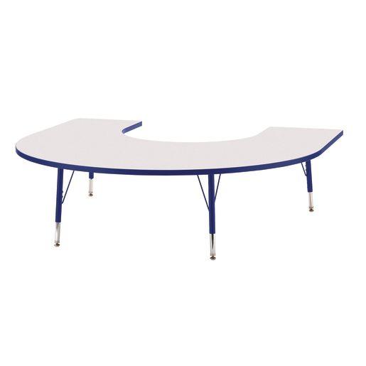 "Berries® 60"" x 66"" Horseshoe Activity Table, 11"" - 15"" - Blue"