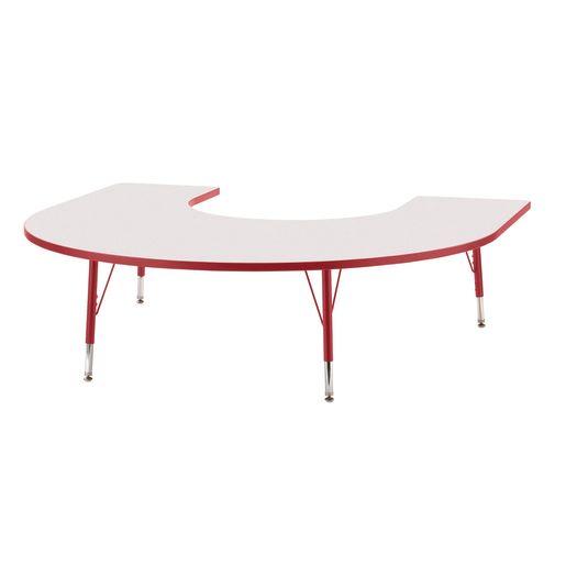 "Berries® 60"" x 66"" Horseshoe Activity Table, 11"" - 15"" - Red"