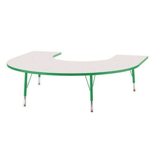 "Berries® 60"" x 66"" Horseshoe Activity Table, 11"" - 15"" - Green"
