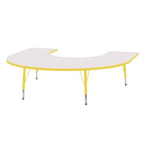 "Berries® 60"" x 66"" Horseshoe Activity Table, 11"" - 15"" - Yellow"