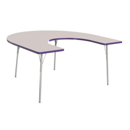 "Berries® 60"" x 66"" Horseshoe Activity Table, 24"" - 31"" - Purple"