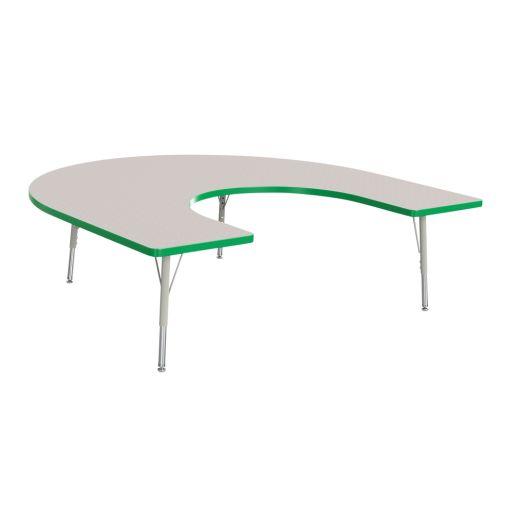 "Berries® 60"" x 66"" Horseshoe Activity Table, 24"" - 31"" - Green"