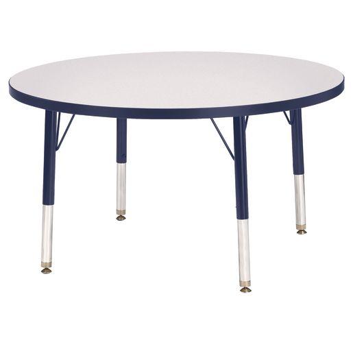 "Berries® 36""Dia. Round Activity Table, 11"" - 15"" Leg Height - Navy"