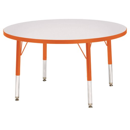 "Berries® 36""Dia. Round Activity Table, 11"" - 15"" Leg Height - Orange"