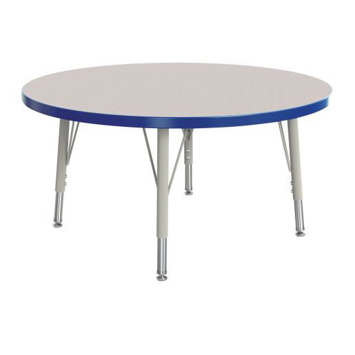"""Berries® 36""""Dia. Round Activity Table, 15"""" - 24"""" Leg Height - Blue"""